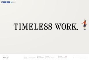 TIMELESS WORK. ほんとうにいいものをつくろう。 SANYO
