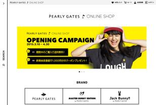 オンラインショップトップ | PEARLY GATES ONLINE SHOP